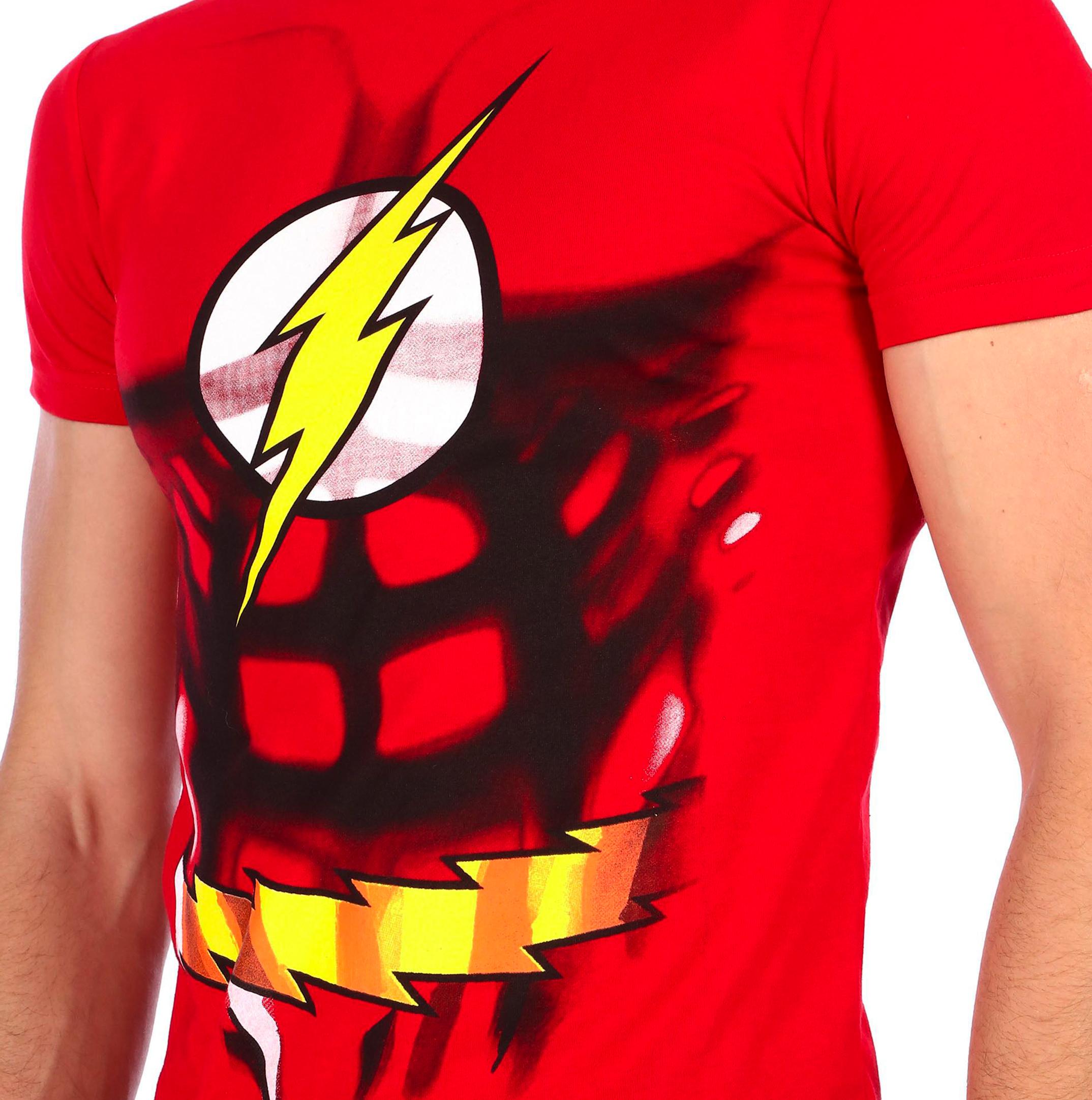 Playera Flash Justice League para Caballero - Aurimoda e3430e9326ef9